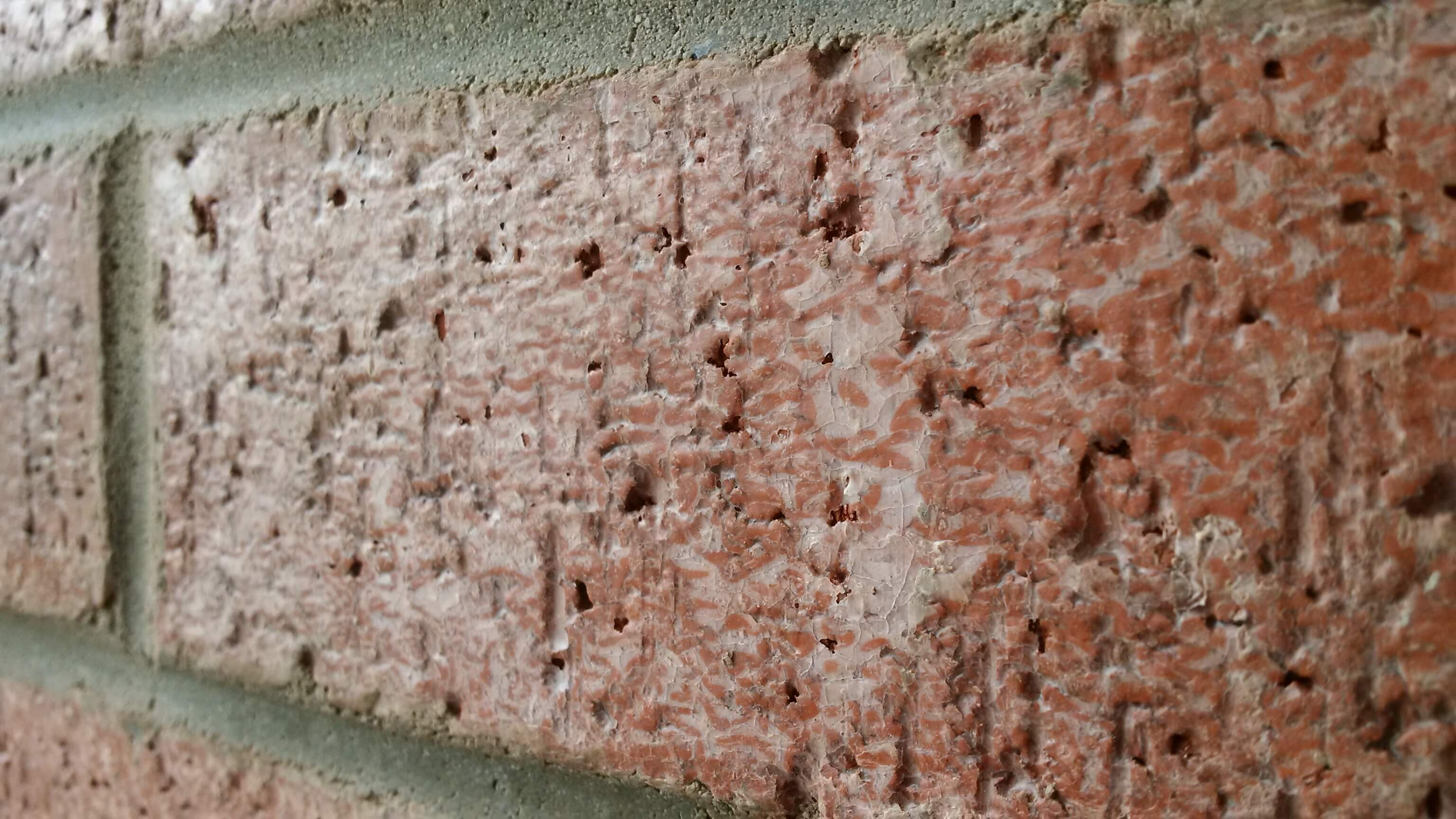 Wax on Brick Veneer